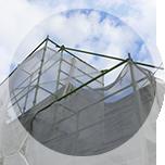外壁塗装 屋根塗装 足場組立 ネット養生 スターペイント 和白ショールーム
