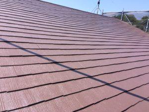 スターペイント 屋根塗装 上塗り 福岡