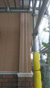 外壁塗装 シーリング材施工後 外壁塗装専門店 スターペイントショールーム 福岡
